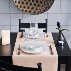 Tete-a-Tete Tischläufer uni 40 cm breit